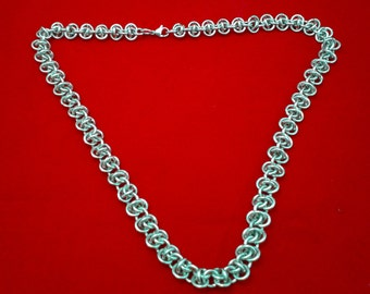 Stylish, chunky, stainless steel chainmaille / chainmail necklace.  RSD (Rhinos Snorting Drano)  Gift Boxed.  Unisex.