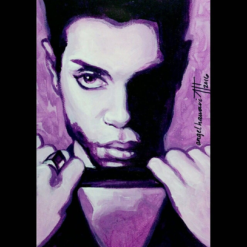 Prince The Hits 2, original painting, Prince Rogers Nelson, tribute  portrait, Purple Rain, Prince of Pop, American singer songwriter