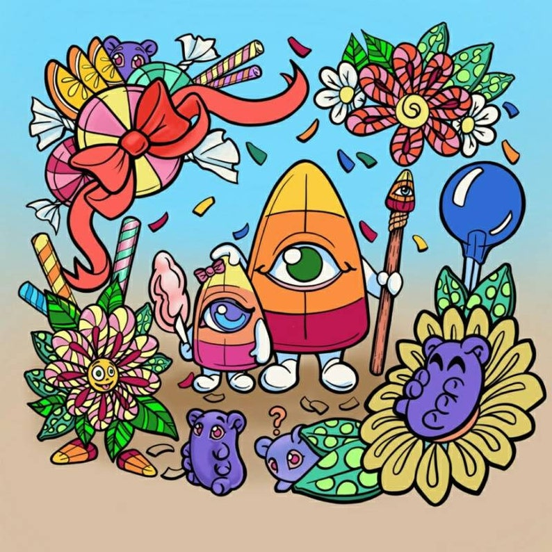 Candycorn coloring page coloring sheet printable art image 0