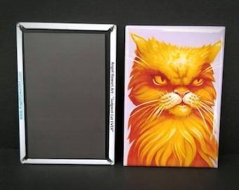 Magnet, Judgiest Cat EVER by Angel Hawari, grumpy cat, massive side eye