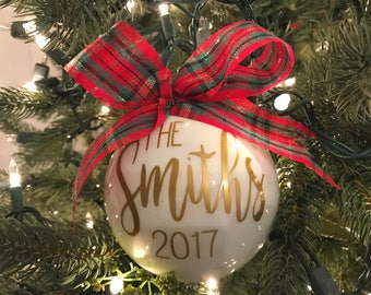 personalized ornament holiday gift tree decoration holiday ornament gift for newlyweds christmas gift unique gift