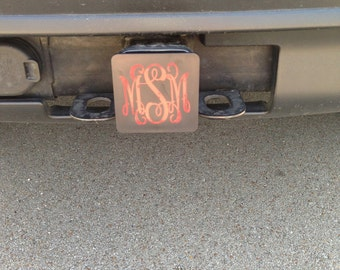 Monogrammed Car Hitch Cover