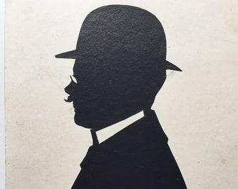 Antique Silhouette Man with Mustache 2a6cb3284d54