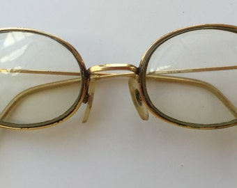 35bb824abe21 Eyeglasses Oval 14K Gold Filled Wire Rim MOREL French Made Unisex