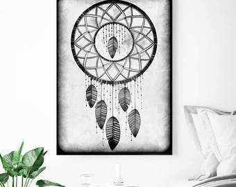 Original Drawing - Dreamcatcher - A4 Art Print, Wall Decor, Illustration