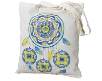 Tote Bag / Shopping Bag - Dreamcatcher - 100% Eco-Friendly Organic Cotton. Bear bag
