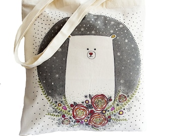 Tote Bag / Shopping Bag - Bear - 100% Eco-Friendly Organic Cotton