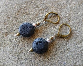 Diffuser Earrings, Essential Oil Earrings, Oil Diffuser Earrings, Aromatherapy Earrings, Boho Lava Earrings, Girlfriend Earrings