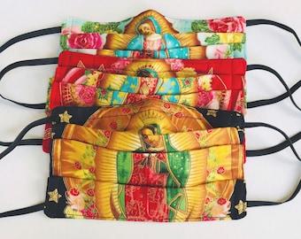 Virgen de Guadalupe Cotton Face Mask with Nose Wire / Child Face Mask / Virgencita de Guadalupe / Cotton Face Mask / Virgen Maria