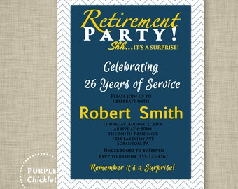 farewell celebration masculine retirement party invitation etsy