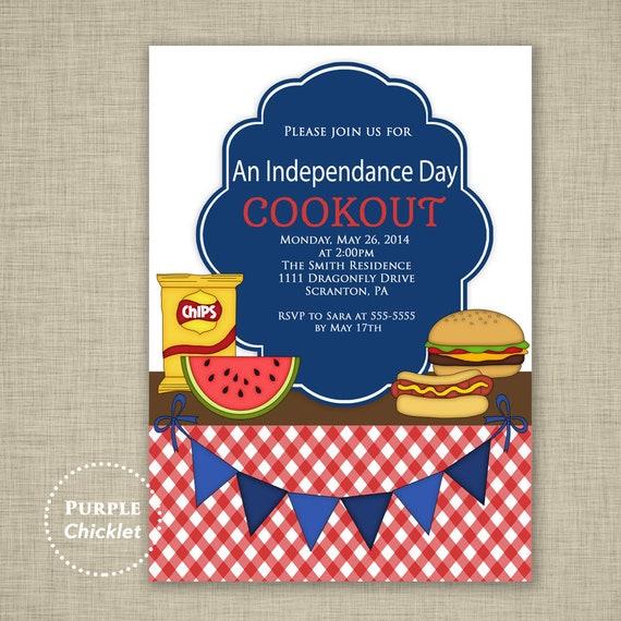 labor day party invite memorial day invite cookout invitation etsy