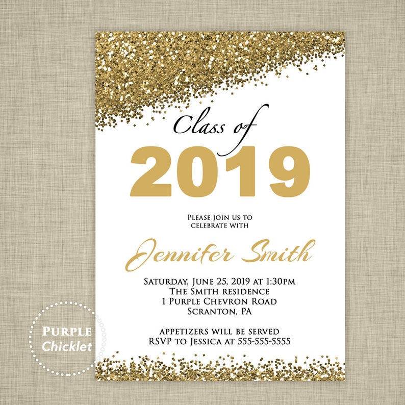 Obsessed image in printable graduation invitations