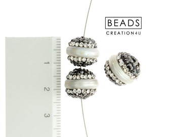 nature pearl gemstone beads 610pcs Paved CZ Freshwater pearl beads Pave diamond Irregular pearl connector