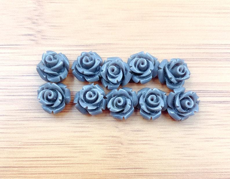 Flower Cabochons Resin Cabochons Flower Shaped 15mm Detailed Rose Cabochons Flower Cabs,COBD019 Flat Back Roses Flatback Roses