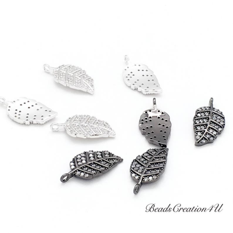 Good For Earring Pattern Charm for Easy Self-Making Jewelry Leaf Square 14K Gold Filled Micro Pave CZ Solar and bracelet Necklace