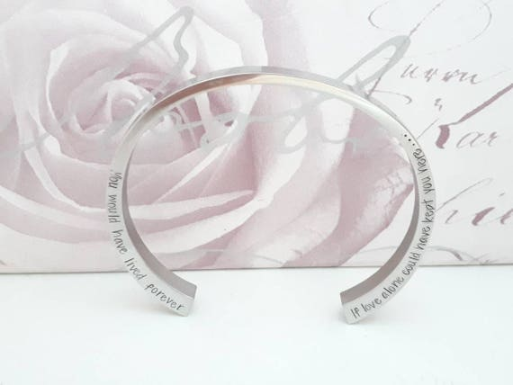 Personalised steel cremation ashes bracelet,  bereavement memorial loss jewellery