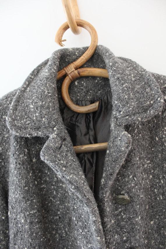 Vintage grey & white fleck wool jacket