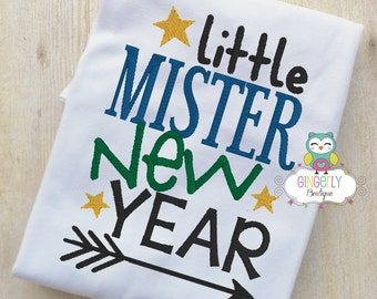 little mister new year shirt or bodysuit new years shirt new years eve shirt boy new years shirt mister 2017 2017 shirt2017 shirt