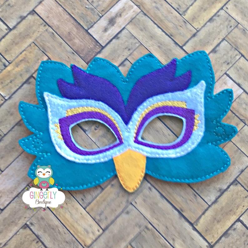 Máscara De Pavo Real Los Niños Vestido De Máscara Máscara De Etsy