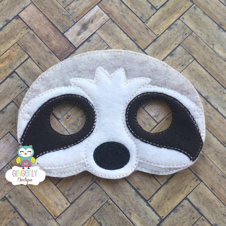 Máscara de pereza niños vestido de máscara máscara de | Etsy
