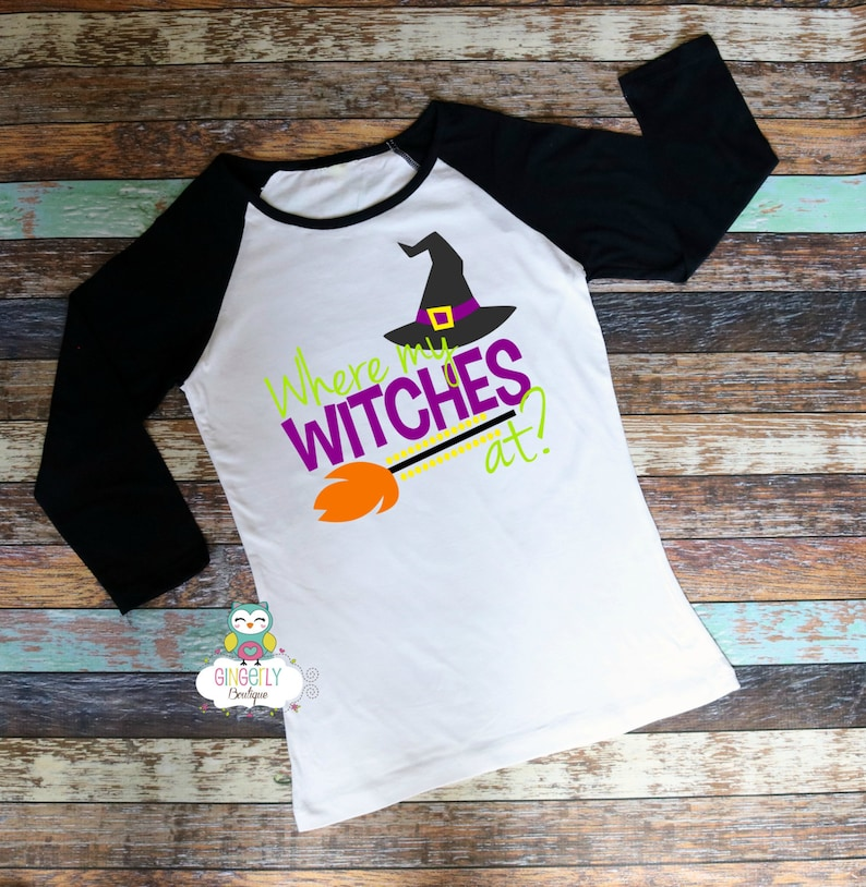406ca6601766b Where's my Witches at Shirt, Boo Tribe Shirt, Halloween Shirt, Women's  Halloween Shirt, Heat Pressed Vinyl Shirt