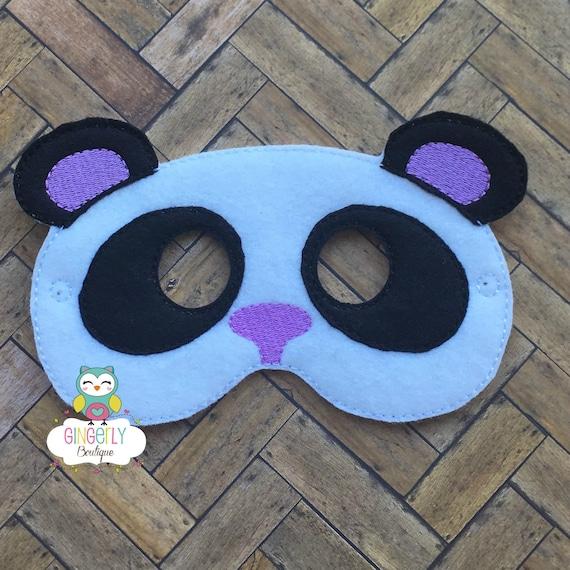 Panda Bear Mask Kids Dress Up Mask Panda Bear Costume Mask Wool Blend Mask Felt Panda Bear Mask Jungle Party Favor Monkey Mask