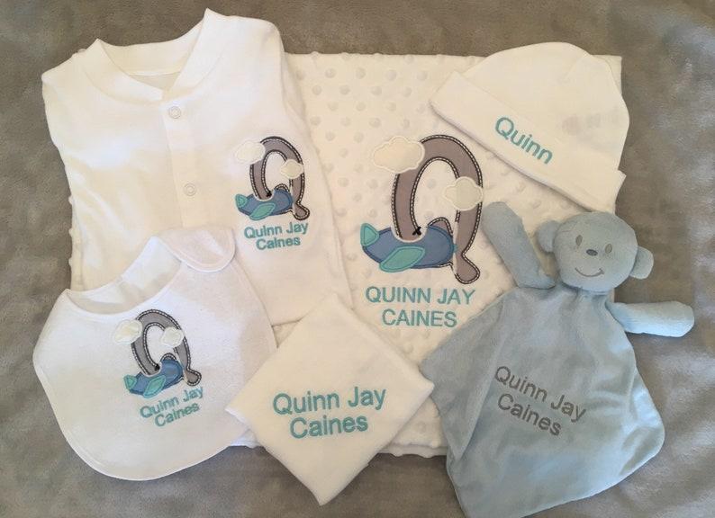 b3bd6d2c0 Personalised Baby Boy Gift Set Bundle Custom name New baby