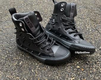 356cd085194b Studded Converse Boots Black   Smoke Gray