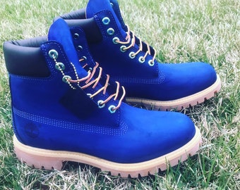2dffb6165cf Custom Blue Timberlands (put size in notes when ordering)