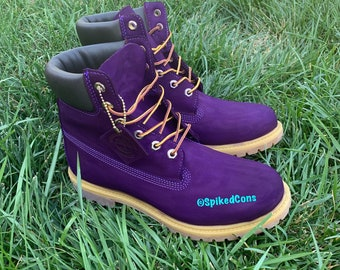 602fd6882e2 Custom Purple Timberlands (put size in notes when ordering)