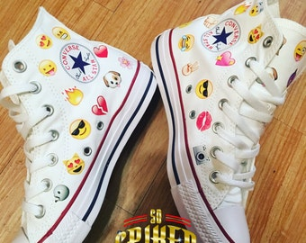 Custom Kid Emoji Converse