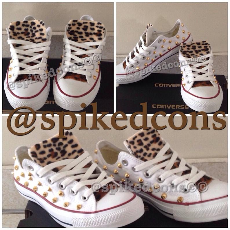 759599aa9b99f Adult Leopard Studded Converse