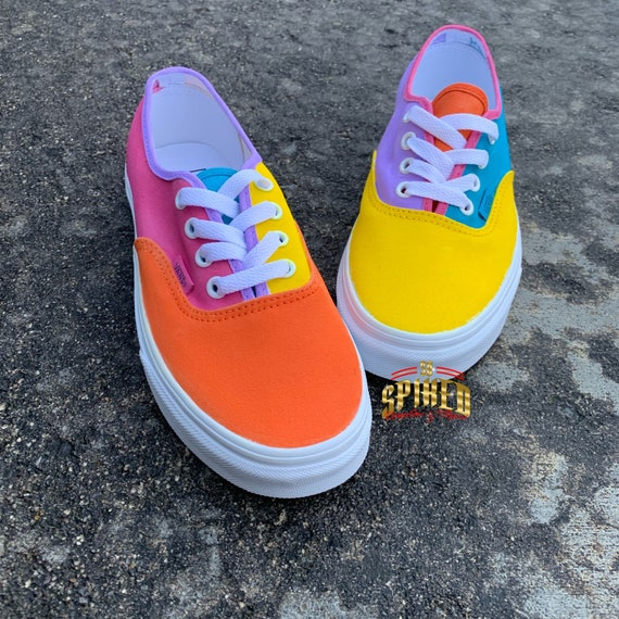 Bubble Gum Vans Custom Old Skool Big KidsAdults Men Women Pink Lavender Green Yellow Blue Orange