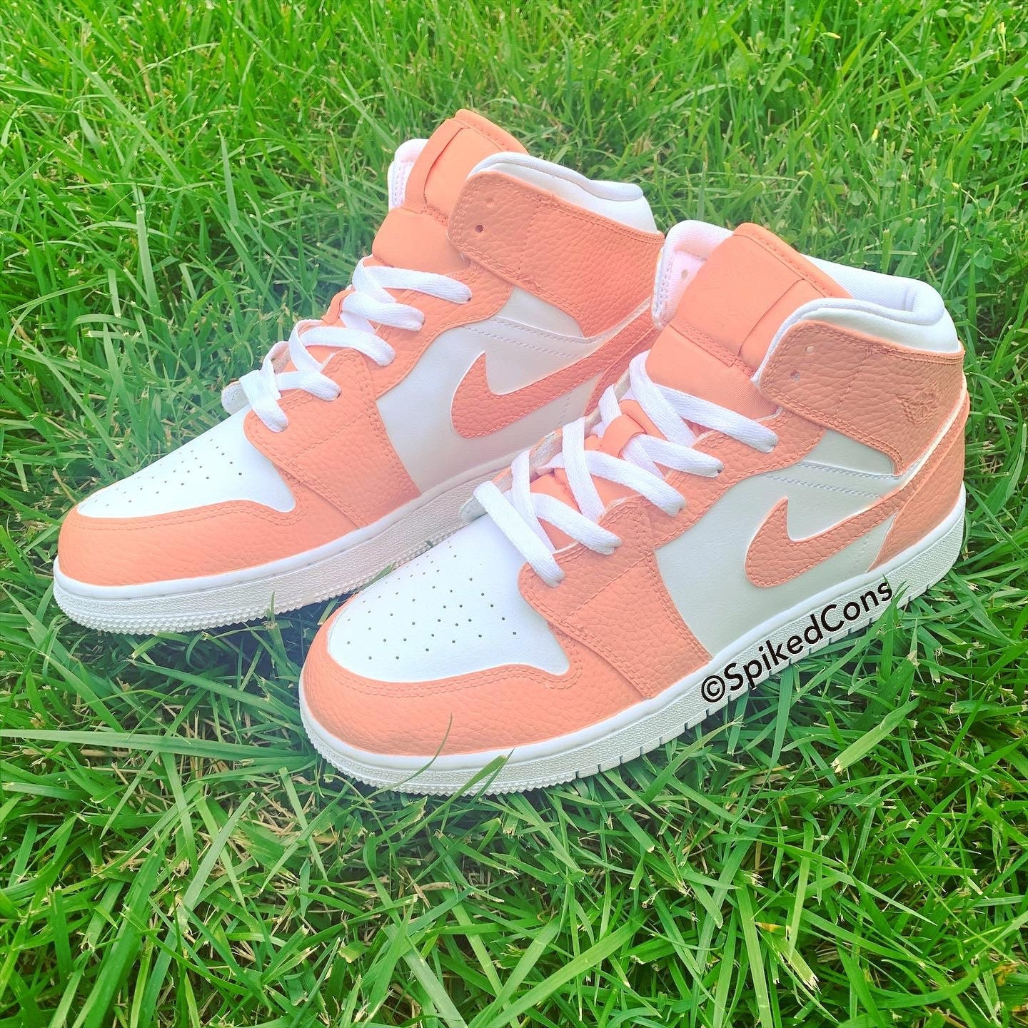 READY TO SHIP Peach and White Youth 5-Women 6.5 /& 6.5 Youth-8 women