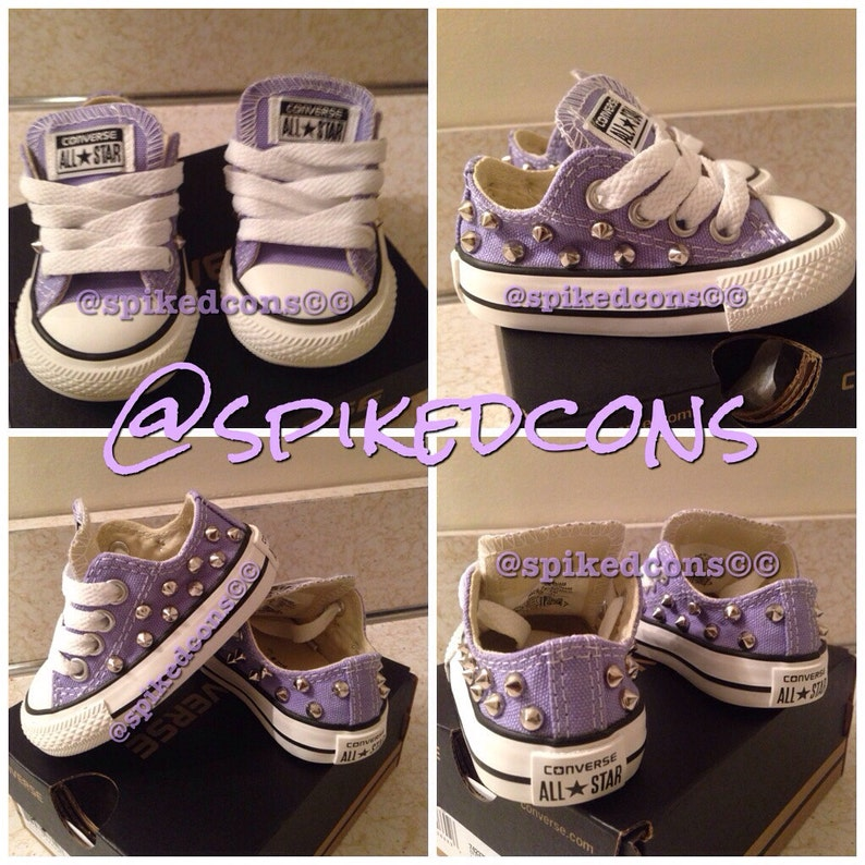 c04ee01f1c7 Infant hard bottom converse Sizes 2   3 low or high top