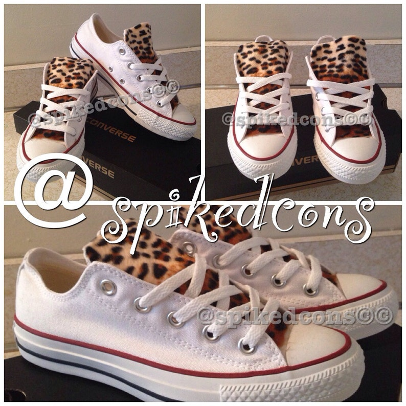 b0f9c6236fc22 Adult Leopard Converse (low or high top) ***Ombre' leopard***