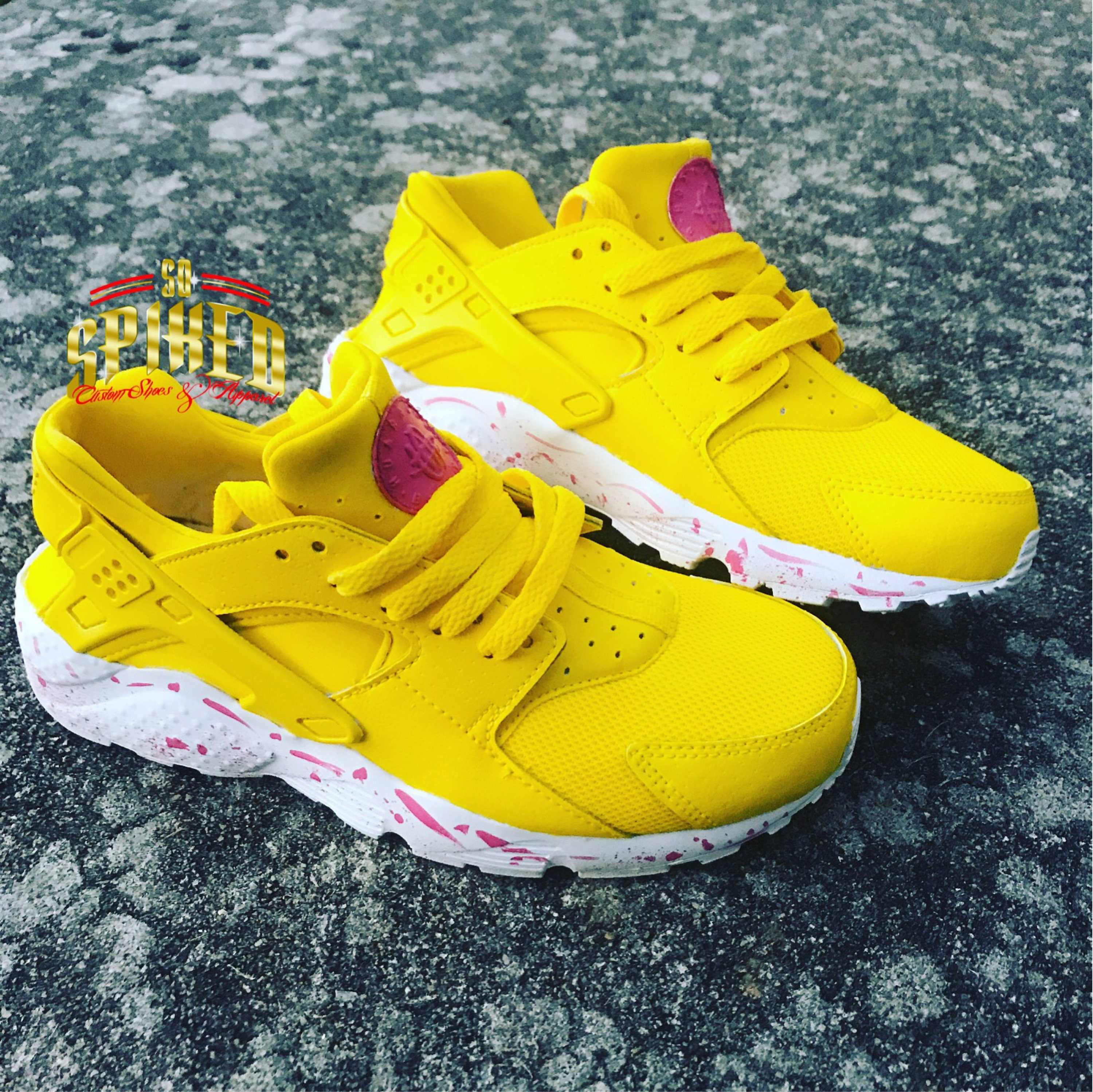 online store 7b63a 0e108 Custom Yellow Splattered Huaraches (other colors available)