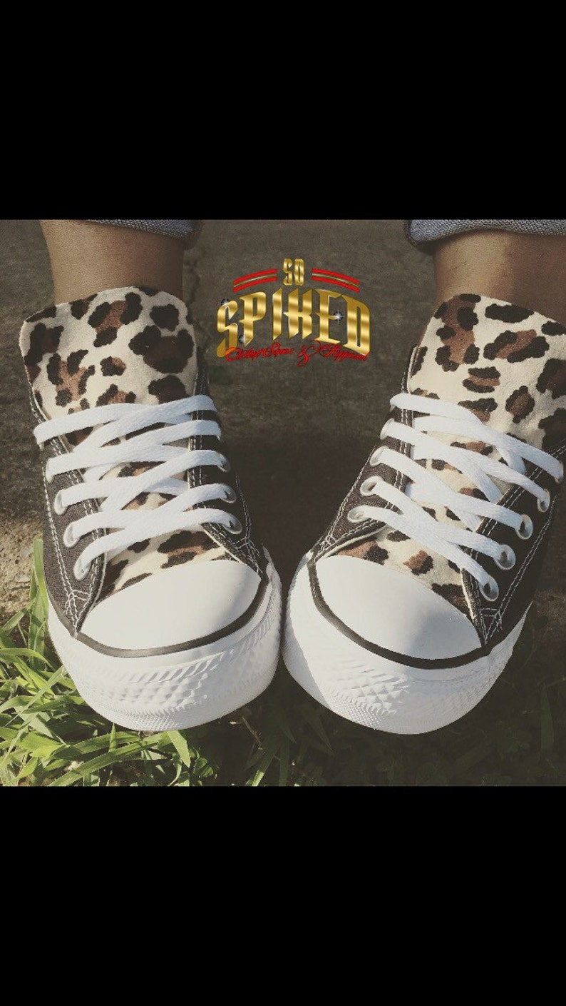 e591301424cea Adult Leopard Converse (low or high top)