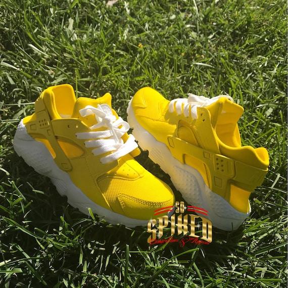 Custom Lemon Yellow Huaraches | Etsy