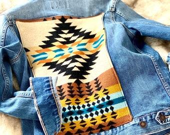 Custom Jean Jacket with Pendleton Wool