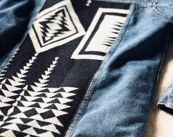 Repurposed Jean Jacket with Pendleton Wool
