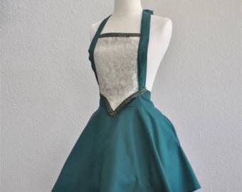 FA1108 Green Princess Fairytale Apron