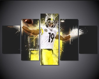 43d51d5caad JuJu Smith-Schuster Pittsburgh Steelers Canvas Painting Poster Set, Wall Art  Poster 5 Pieces / 5 Panel Wall Art- Without Frame