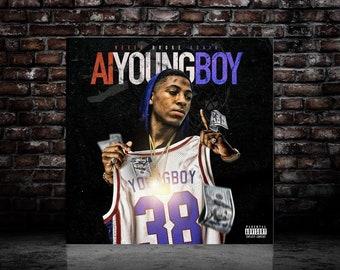 4bf72cb887c1 NBA AI Youngboy Art Poster Album Music Cover Art Silk Print home Decor