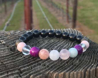 Soul Healing Bracelet - Grief & Loss Gift - Bereavement Jewelry- Vegan Bracelet - Stacking Bracelet