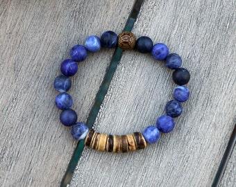 True Friendship Sodalite Bracelet - Blue Bracelet - Friendship Bracelet - Bracelet for Her