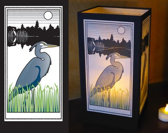 "Paper luminary - ""Heron and Egret"" design"