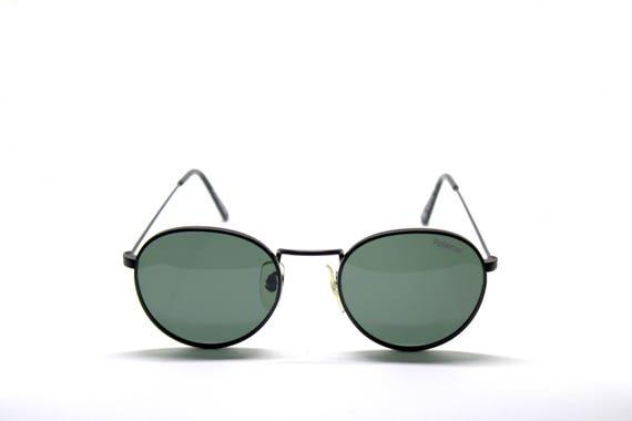 POLAROID round black NEW VINTAGE sunglasses