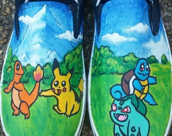 Handpainted Pokemon Shoes