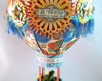 Be Yourself Hot Air Balloon Mobile / Model with Passenger